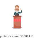 election, vector, woman 36006411