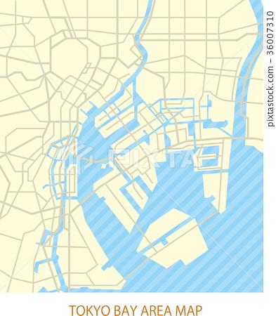 東京灣地區地圖(有道路) 36007310