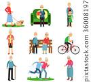 people, vector, set 36008197