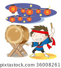 日本鼓和男人 36008261