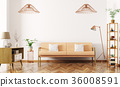 Interior of living room with sofa 3d render 36008591