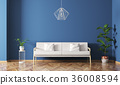 Interior of living room with sofa 3d render 36008594