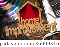 Home Improvement Symbol with Work Tools 36009316