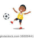Indian Schoolboy in Sport Uniform with Number Two 36009441