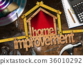Home Improvement Symbol with Work Tools 36010292