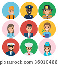 People of Different Professions Set of Round Icons 36010488