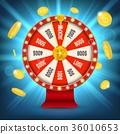roulette, money, coin 36010653