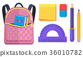 Pink Rucksack with Pocket on Back with ABC Book 36010782