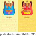 School Rucksacks for Boys and Girls Blue and Pink 36010795