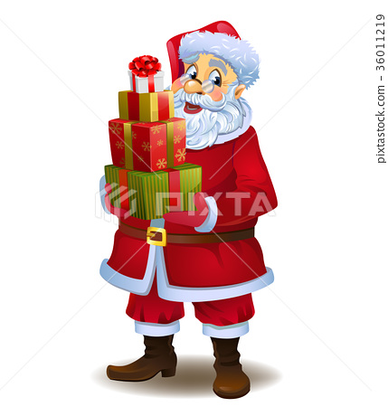 Santa Claus with gifts 36011219