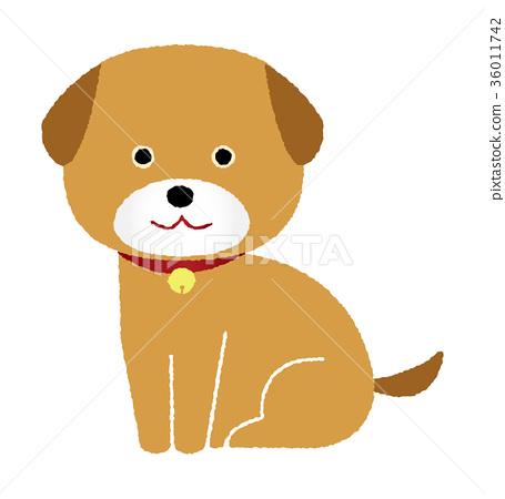 Puppy illustration (brown) 36011742