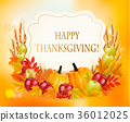 Happy Thanksgiving background with vegetables 36012025