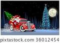 เวกเตอร์,ซานต้า,คริสต์มาส 36012454