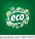 eco, logo, ecology 36013073