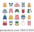 Baby Clothing Icon set 36013304