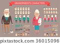 Grandparents Constructor Vector Illustration. 36015096