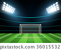 Spotlights and Football Field Card Background 36015532