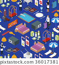 Hotel Service Background Pattern Isometric View 36017381