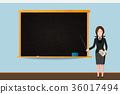teacher, classroom, vector 36017494