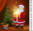 Santa, box, magic 36018169