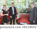 Vehicle manager showing electro car to young 36018692