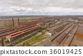 Aerial view of industrial steel plant. Aerial 36019425