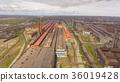 Aerial view of industrial steel plant. Aerial 36019428