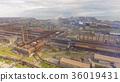 Aerial view of industrial steel plant. Aerial 36019431