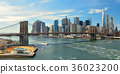 Brooklyn Bridge and downtown Manhattan 36023200