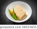 冻干豆腐 炖 开水焯过的食物 36024835