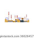 Factory Industrial Buildings Power plants vector 36026457