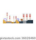 Factory Industrial Buildings Power plants vector 36026460