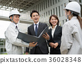 businessman, a meeting, blue collar worker 36028348