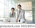 businessman, a meeting, blue collar worker 36028654