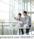businessman, a meeting, blue collar worker 36028657