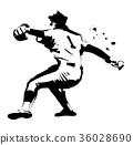 棒球 黑白 单色 36028690