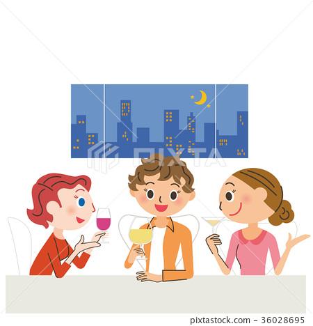 女性 酒会 酒 36028695