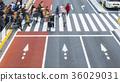 Blur business people are walking across street. 36029031