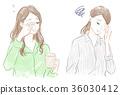 困倦,頭痛,壓力的形象 36030412