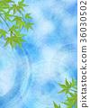 树叶 日本风格 日式风格 36030502