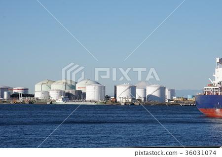 Chiba City Chiba Port Factory and Mt. Fuji 36031074