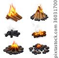 blaze, bonfire, campfire 36031700