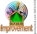 Home Improvement Symbol with Work Tools 36032439
