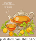 apricot tea illustration 36032477