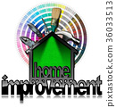 Home Improvement Symbol with Work Tools 36033513