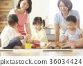 幼兒園老師和孩子們玩 36034424