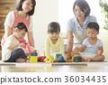 幼兒園老師和孩子們玩 36034435