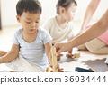 幼兒園老師和孩子們玩 36034444