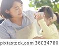 发烧的孩子和托儿所老师 36034780