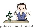 盆栽 男性 男 36040056